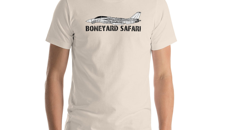 Boneyard Safari F-14 Short-Sleeve Unisex T-Shirt