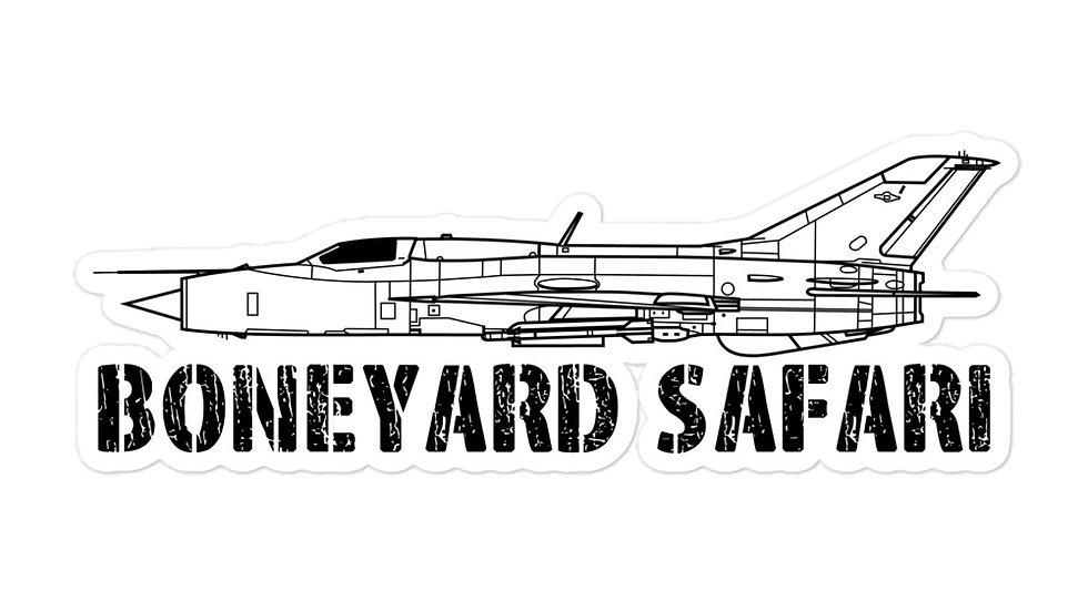 Boneyard Safari MiG-21 sticker