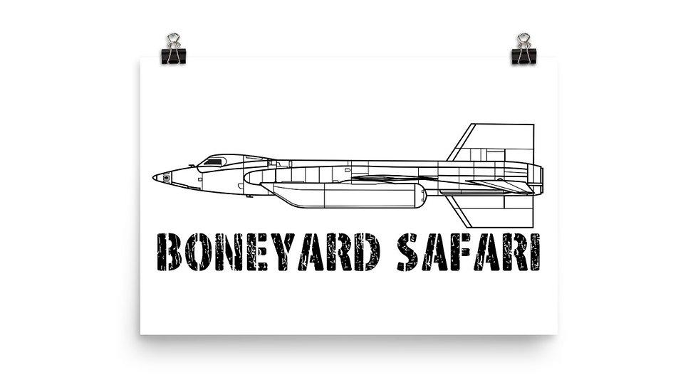 Boneyard Safari X-15 Poster