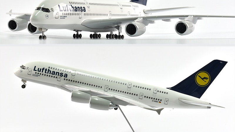 Lufthansa A380 Diecast 1/160 Scale with Lights