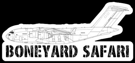 C-17 Boneyard Safari Illustration Sticker