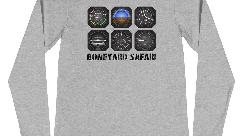 Boneyard Safari Instrument Panel Unisex Long Sleeve Tee