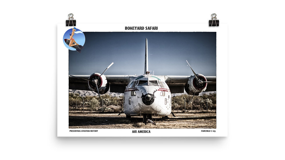 Air America Boneyard Safari Poster
