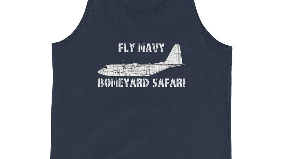 Boneyard Safari Fly Navy C-130 Unisex Tank Top