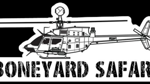 OH-58D Boneyard Safari Illustration Sticker