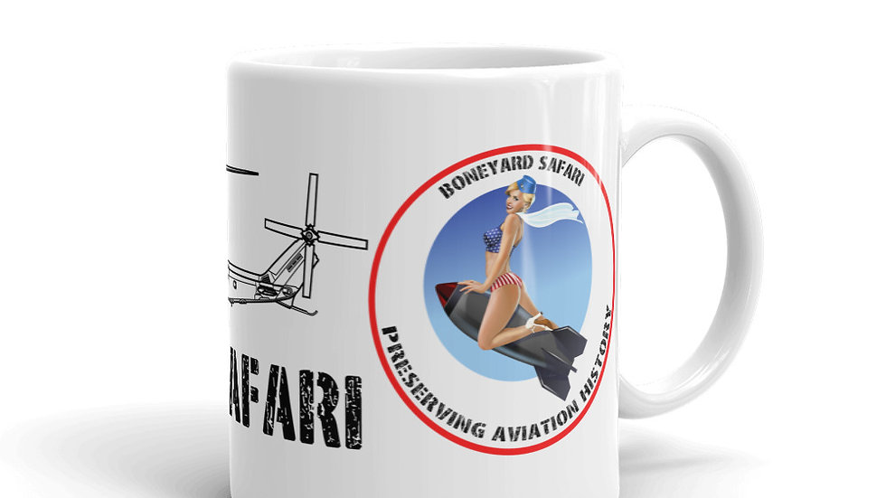Boneyard Safari AH-1Z with logo coffee mug
