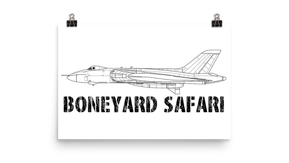 Boneyard Safari Vulcan Poster