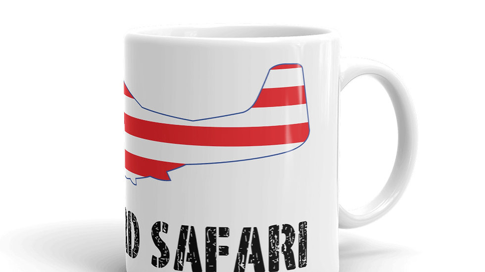 Boneyard Safari American Flag P-51 Coffee Mug