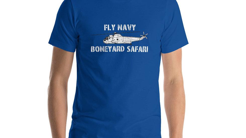 Boneyard Safari SH-3 Fly Navy Short-Sleeve Unisex T-Shirt