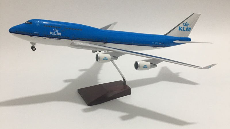 KLM B747 Diecast 1:160 Scale Planes with Lights