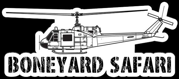 UH-1B Boneyard Safari Illustration Sticker