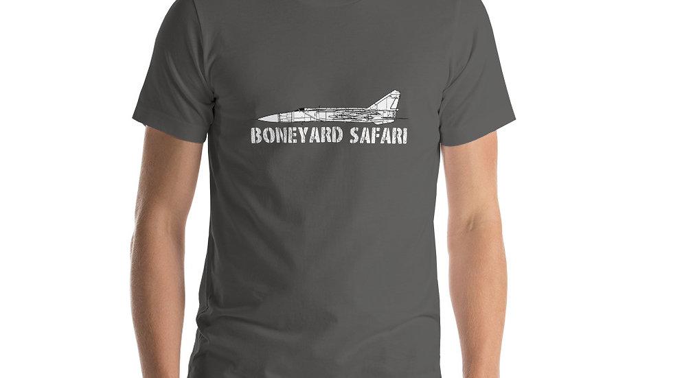 Boneyard Safari MiG-25 Short-Sleeve Unisex T-Shirt