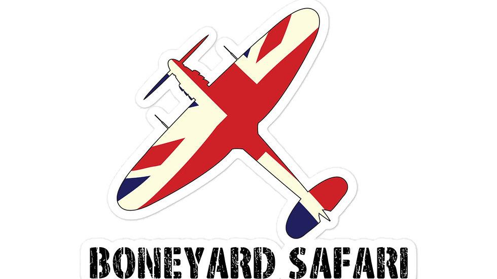 Boneyard Safari Union Jack Spitfire sticker