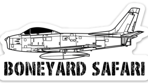 F-86 Sabre Boneyard Safari Illustration Sticker