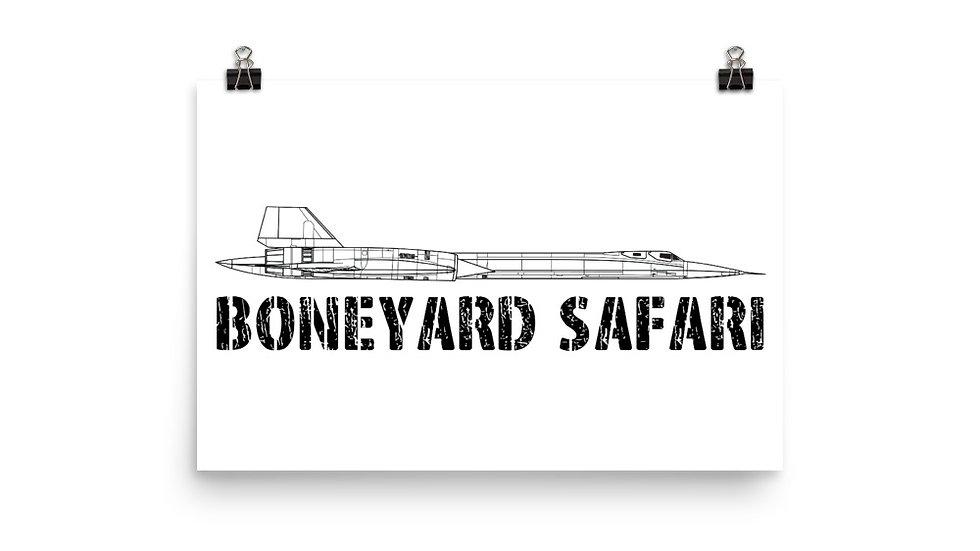 Boneyard Safari SR-71 Poster