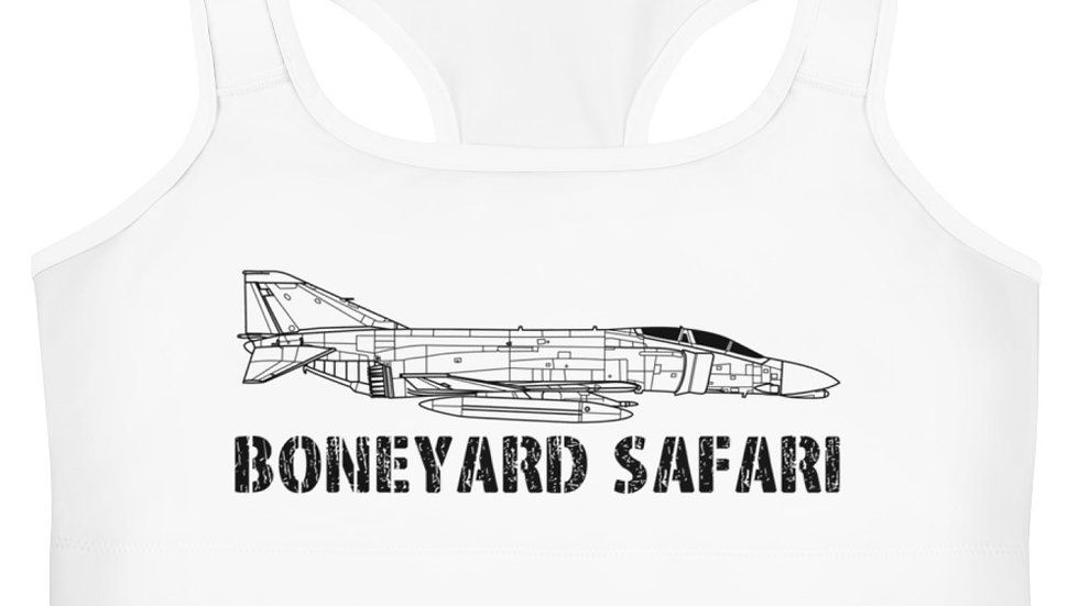 Boneyard Safari F-4C Sports Bra