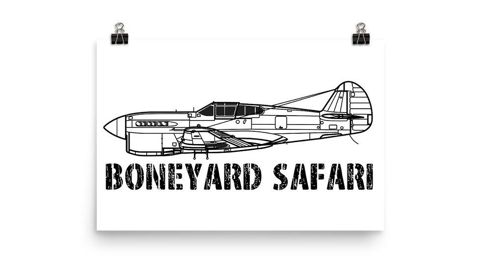 Boneyard Safari P-40F Poster