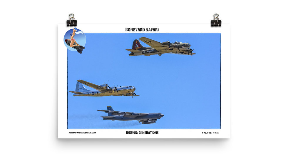 Boneyard Safari Boeing Generations Poster
