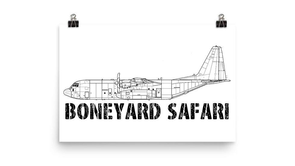 Boneyard Safari C-130J Poster