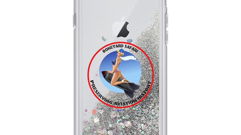 Boneyard Safari Liquid Glitter Phone Case
