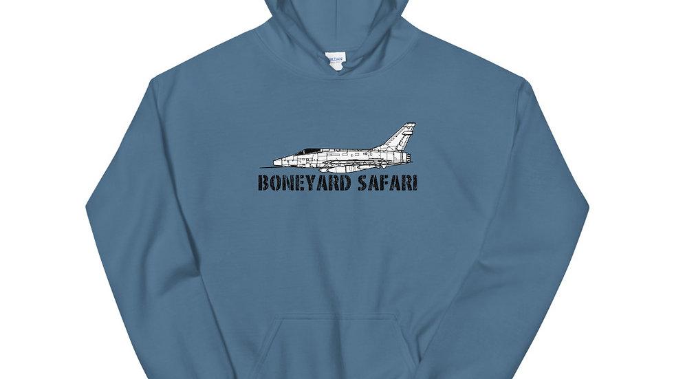 Boneyard Safari F-100D without rear logo Unisex Hoodie
