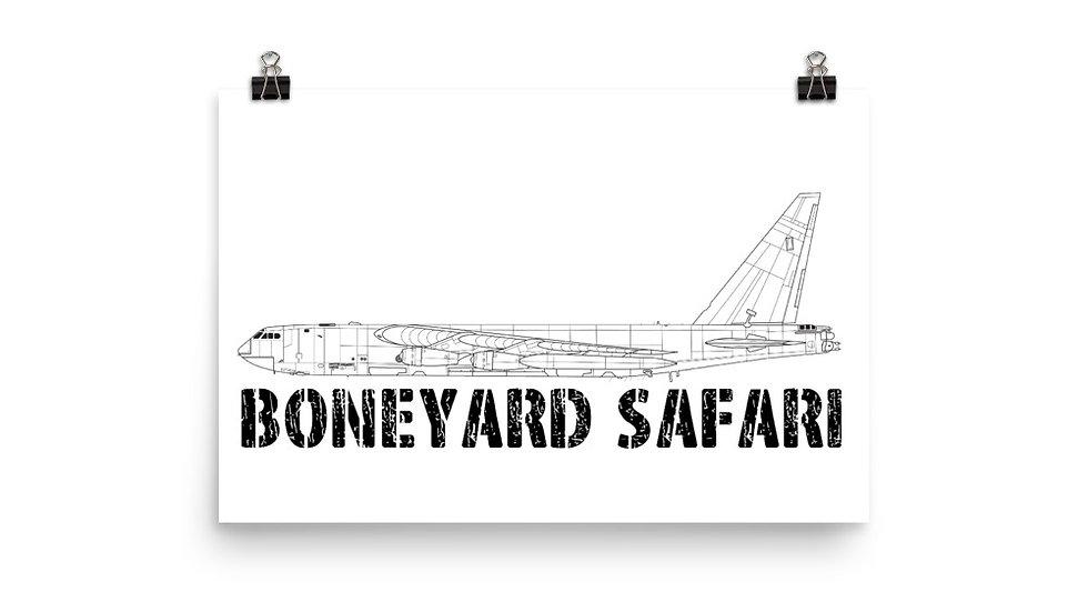 Boneyard Safari B-52D Poster