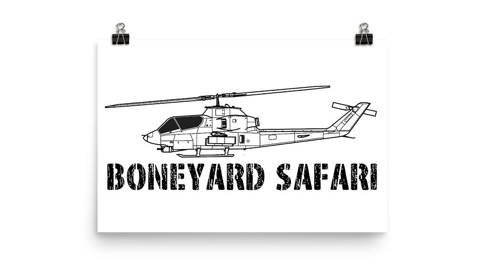 Boneyard Safari AH-1G Poster