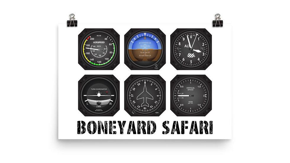 Boneyard Safari Instrument Cluster Poster