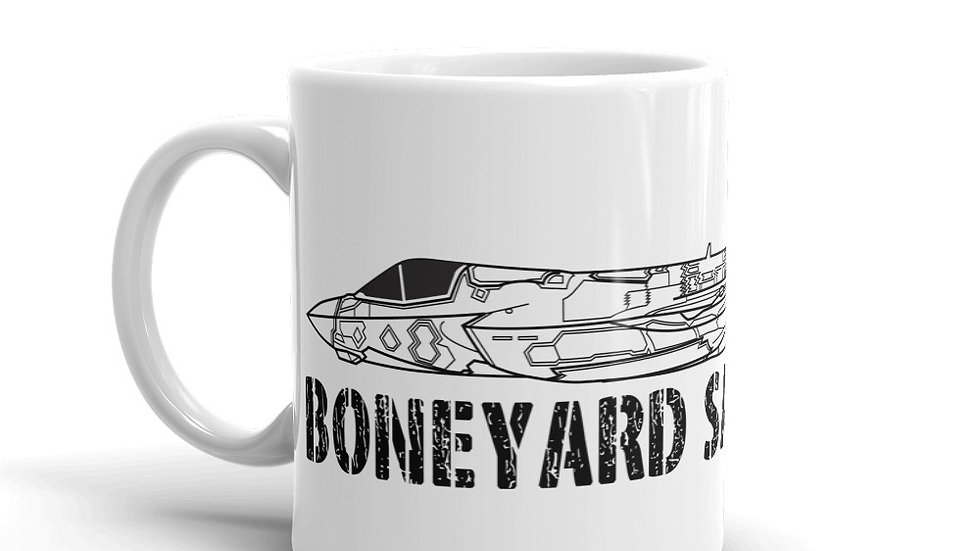 Boneyard Safari F-35B Coffee White glossy mug