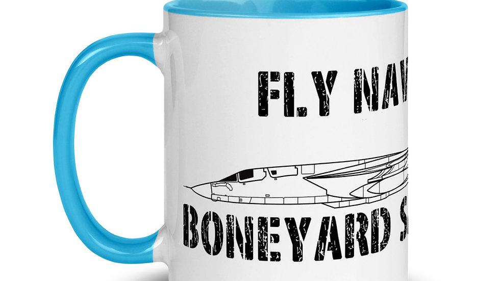 Boneyard Safari Fly Navy RA-5C Mug with Color Inside