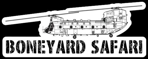 CH-47Chinook Boneyard Safari Illustration Sticker