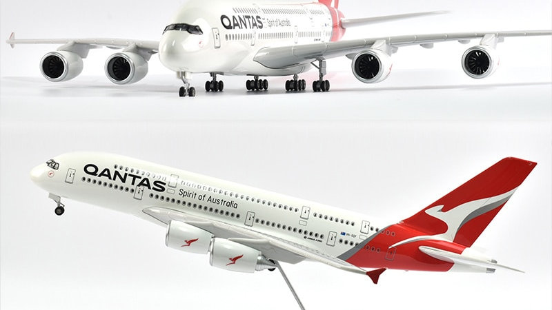 QANTAS A380 Diecast 1/160 Scale with Lights