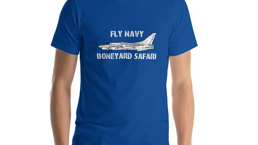Boneyard Safari Fly Navy F-8 Short-Sleeve Unisex T-Shirt