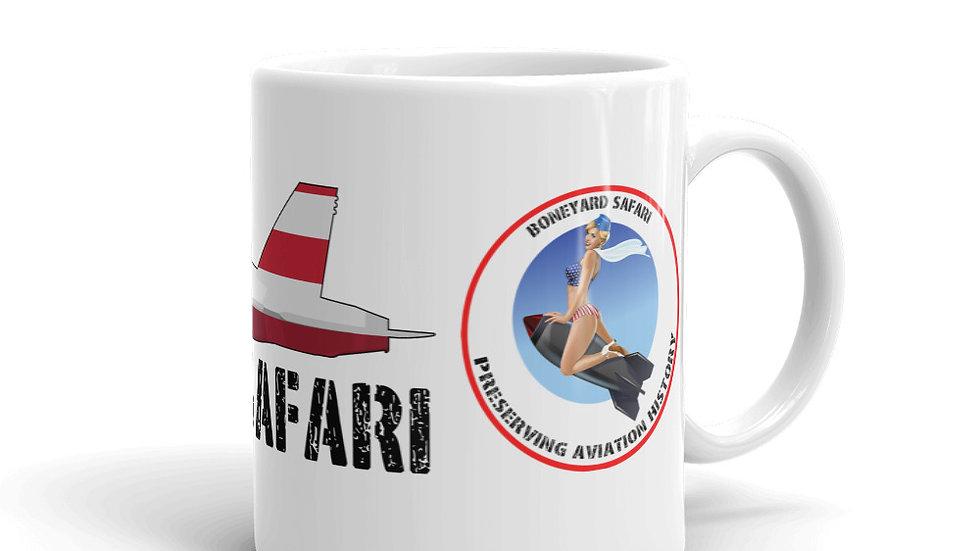 Boneyard Safari F-18 Flag coffee mug