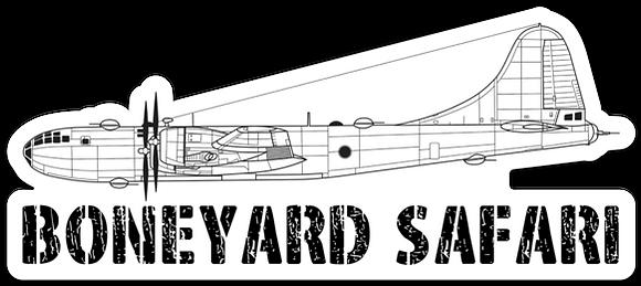 B-29 Boneyard Safari Illustration Sticker