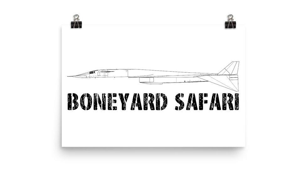 Boneyard Safari XB-70 Poster