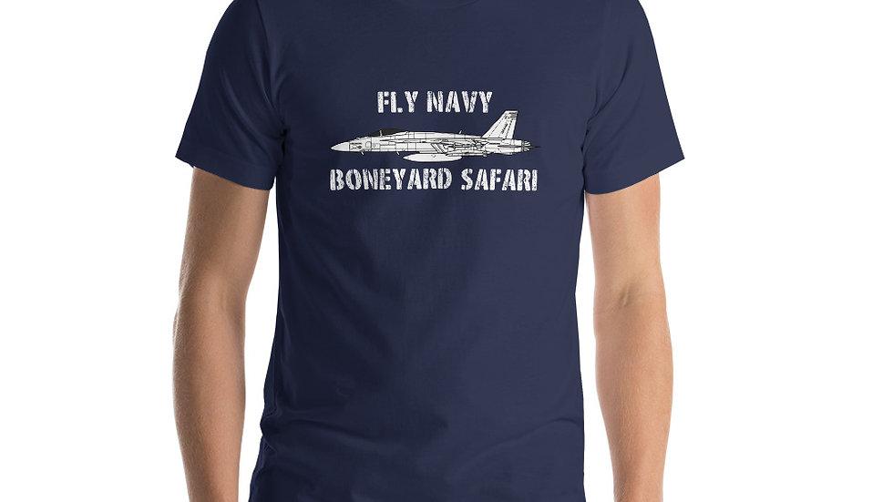 Boneyard Safari Fly Navy F-18E Short-Sleeve Unisex T-Shirt