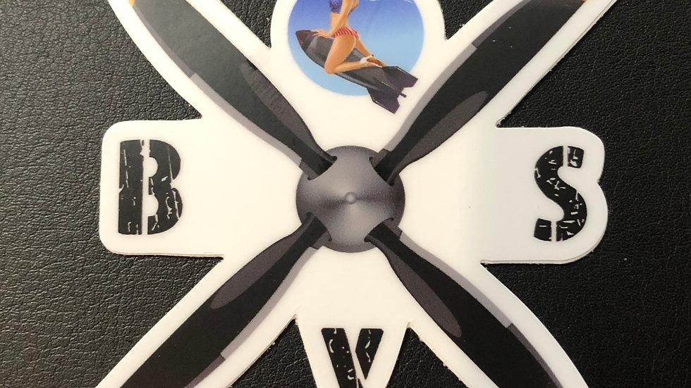 "Proper Boneyard Safari 3"" Sticker -2"