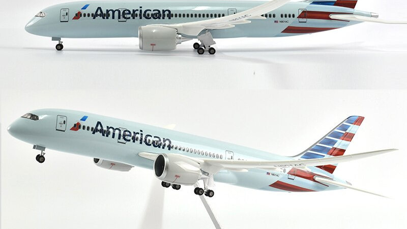 American Airlines Boeing 787 Diecast 1/144 Scale with Lights