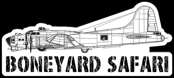 B-17 Boneyard Safari Illustration Sticker