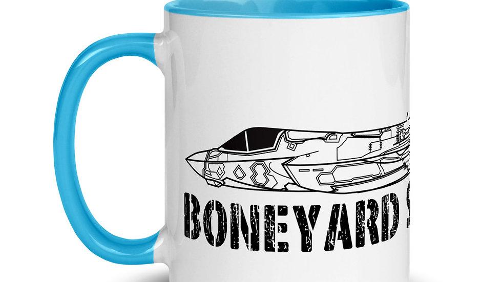 Boneyard Safari F-35B Coffee Mug with Color Inside