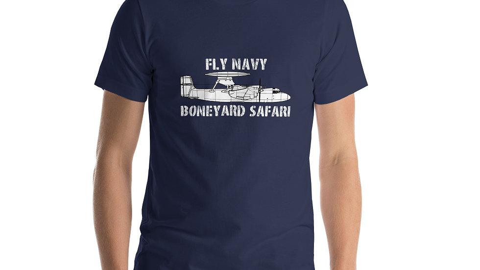 Boneyard Safari Fly Navy E-2C Short-Sleeve Unisex T-Shirt
