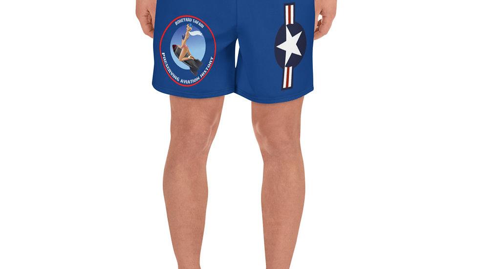 Boneyard Safari USA Roundel Men's Athletic Long Shorts