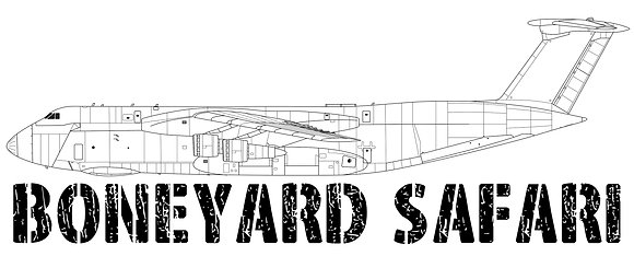 C-5A Boneyard Safari Illustration Sticker