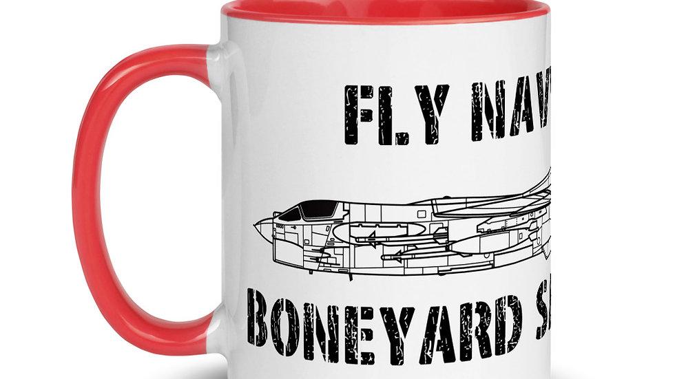 Boneyard Safari Fly Navy F-8 Mug with Color Inside