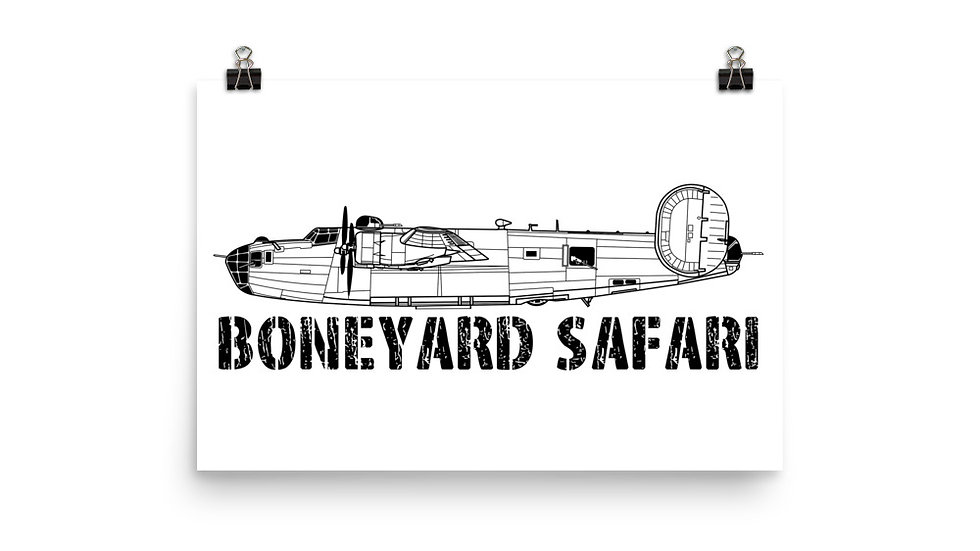 Boneyard Safari B-24D Poster