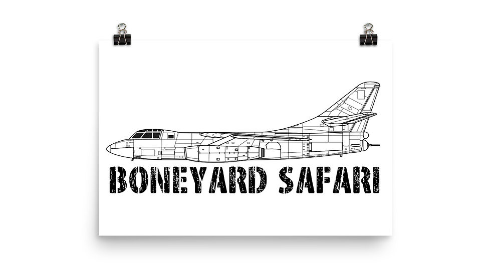 Boneyard Safari B-66 Poster