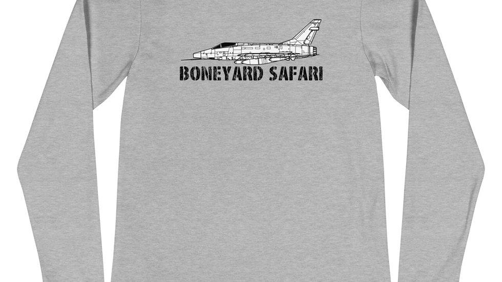 Boneyard Safari F-100D without rear logo Unisex Long Sleeve Tee