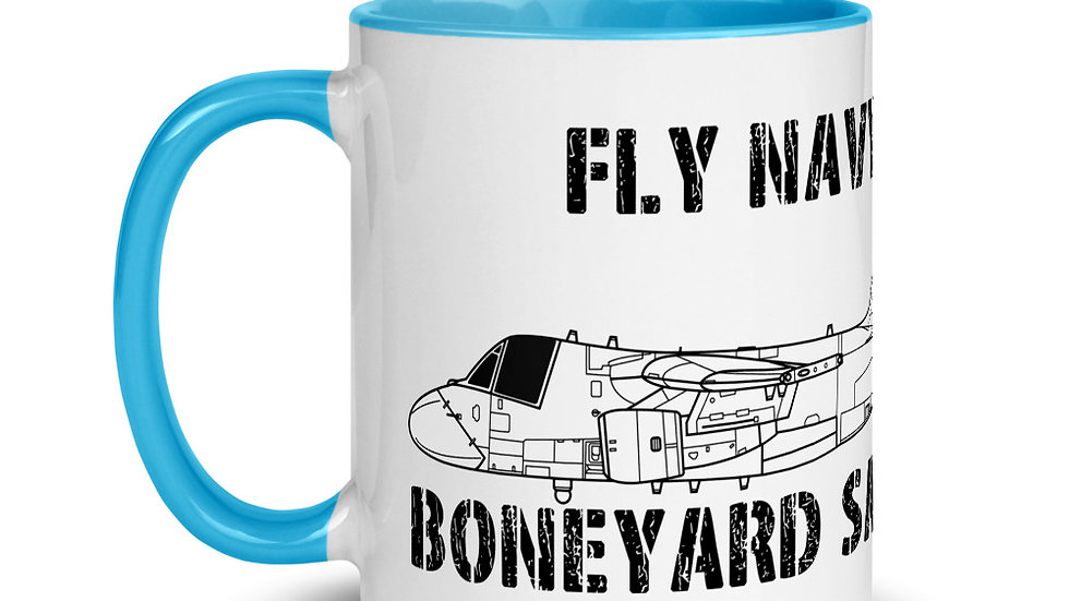 Boneyard Safari Fly Navy S-3 Mug with Color Inside