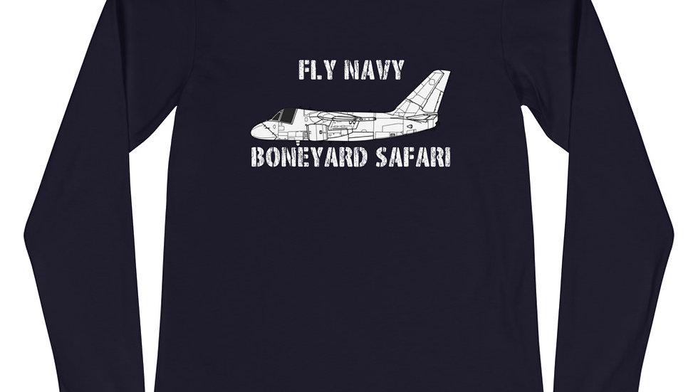 Boneyard Safari Fly Navy S-3 Unisex Long Sleeve Tee